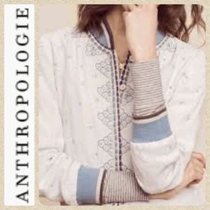 {Anthro} CONDITIONS Arabella White Jacket Size S